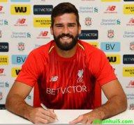 利物浦官网宣布7250万欧签约罗马的巴西国门阿利松(Alisson)