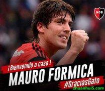 纽维尔老男孩官方宣布阿根廷中场福尔米卡(Mauro Formica)回归