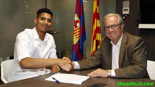 巴塞罗那签下19岁小将罗纳德-阿劳霍(R.Araujo)