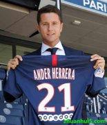 巴黎圣日耳曼官方宣布西班牙中场埃雷拉(Ander Herrera)正式加盟